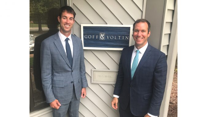 Joshua Goff, left, and Christopher Voltin
